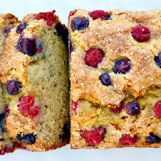 Mixed Berry Banana Bread.