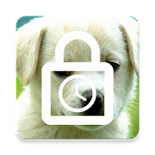 Cute puppy screen lock - time password