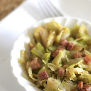 Fried Cabbage and Ham.