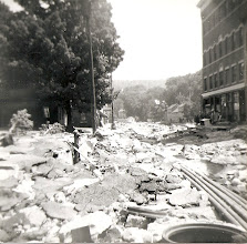 Photo: Street view of the destruction. Photo courtesy of Edward Adams Jr.