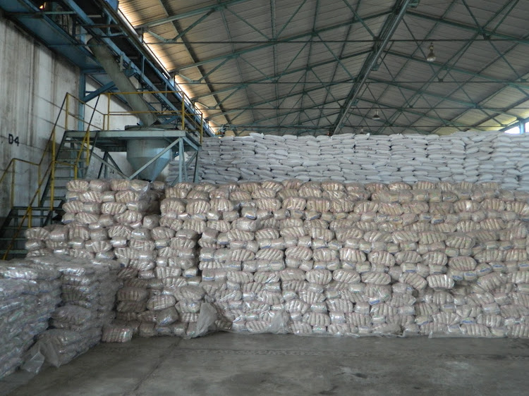 Sugar stock at a warehouse in Muhoroni Sugar Company