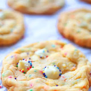 White Chocolate Cake Batter Cookies.
