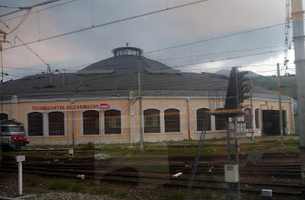Photo: This celebrated round engine shed greets the traveller on arrival at the otherwise undistinguished gare de chambery
