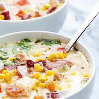 Slow Cooker Potato Bacon Corn Chowder