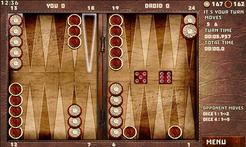 Backgammon with 16 Games- screenshot
