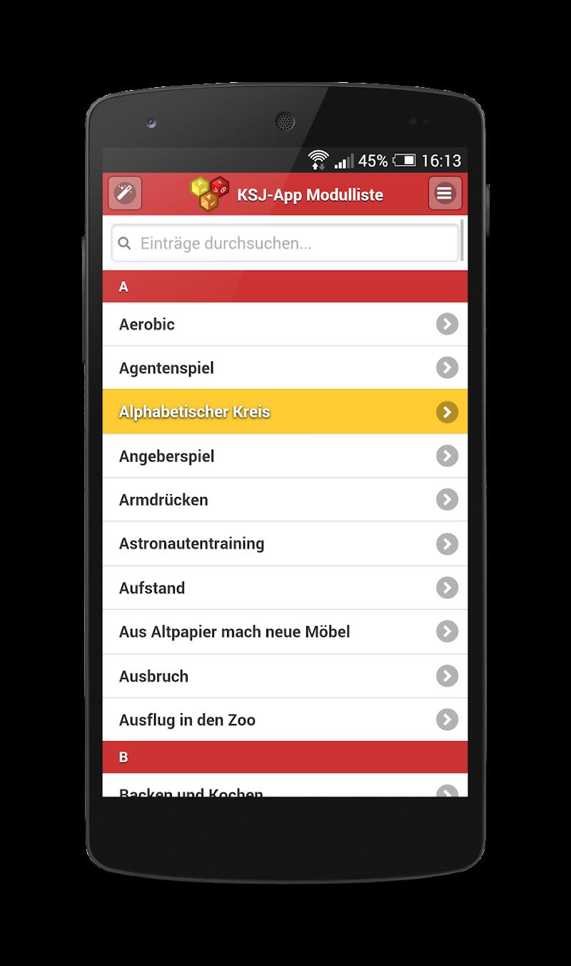 Скриншот KSJ Freizeit App