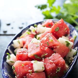 Watermelon Salad with Cotija, Jicama, and Lime