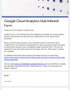 Express interest in the Analytics Hub preview