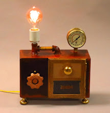 Photo: Steampunk lamp and phone charger