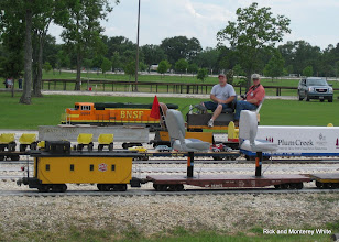 Photo: Rick Pike and David Hannah on  BNSF 9944.  HALS-SLWS 2009-0522