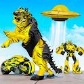 Flying Wild Tiger Robot Game icon