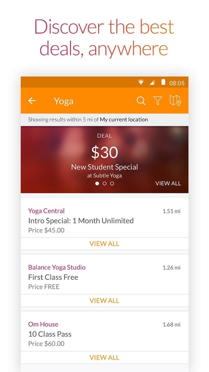 MINDBODY - Fitness & Wellness Android 3