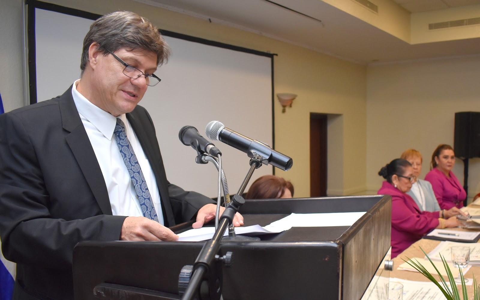 Markus Behrend, Representante de UNFPA Nicaragua. Foto: Francisco Escobar/CSJ.