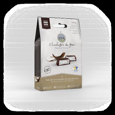 Chocolat Noix de coco enrobée de chocolat noir Boîtes maison