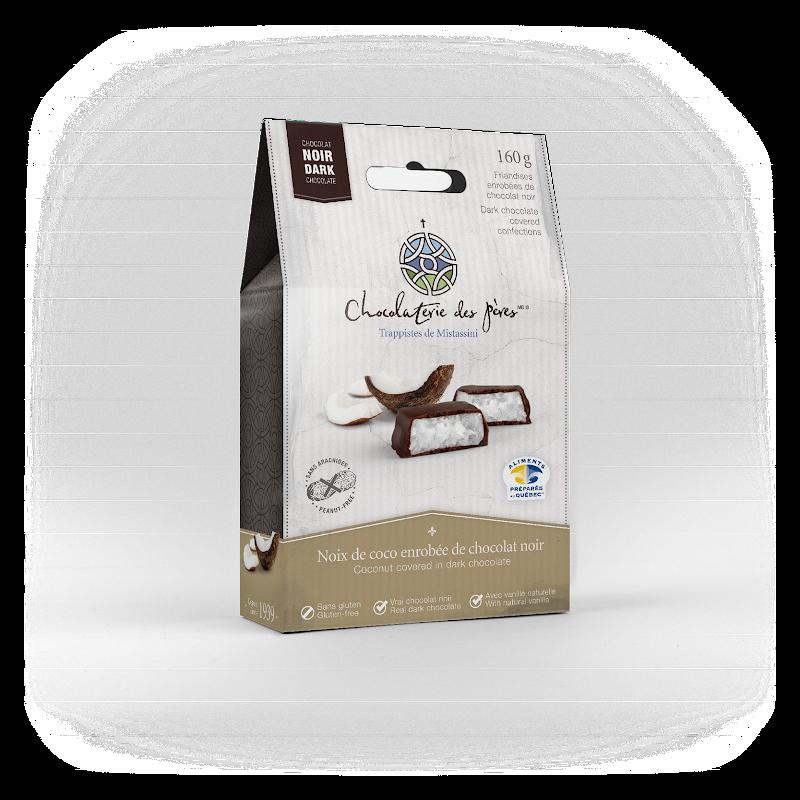 Chocolat Noix de coco enrobée de chocolat noir