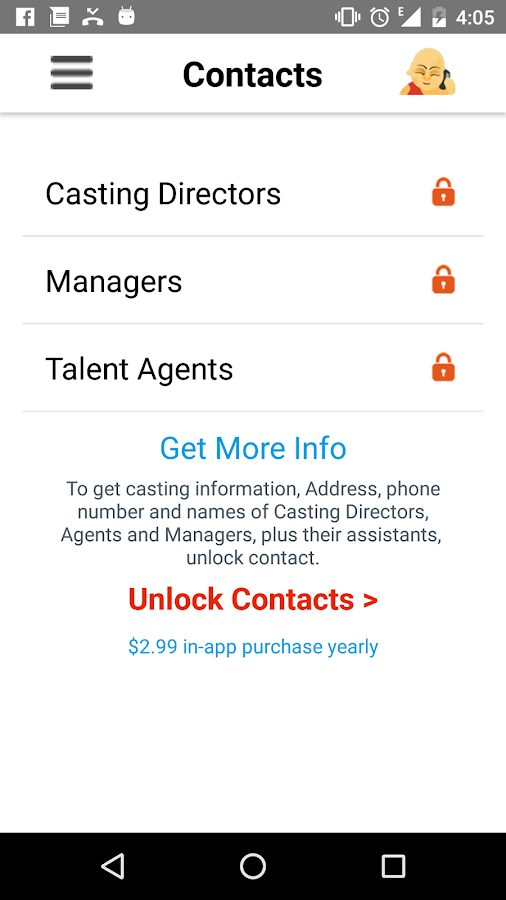 Actor Genie App- screenshot