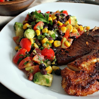 Blackened Chipotle Tilapia With Black Bean Salad
