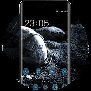 Theme for dark technology moon apollo wallpaper icon