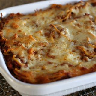 Ground Beef Spaghetti Sauce Casserole Recipes.