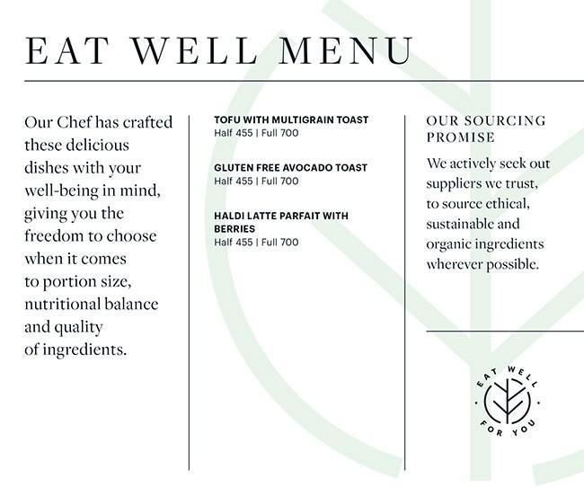 Seasonal Tastes, The Westin menu 3