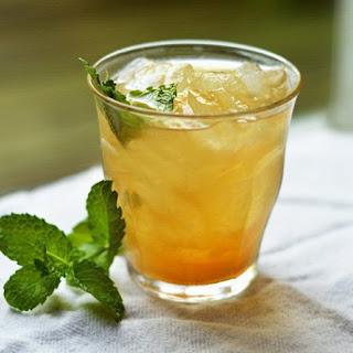 Iced Green Tea Elixir with Ginger & Lemon