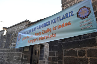 Photo: Entrance of the Armenian church in Amed