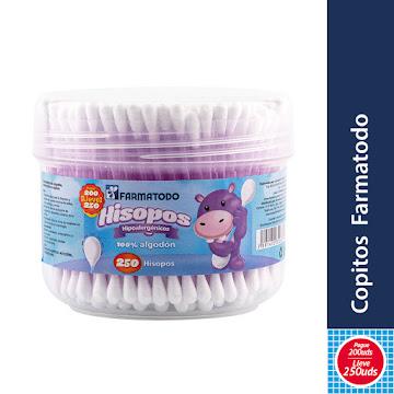 Oferta Copitos Farmatodo   Hisopo Hipó alergénico X250Und Pg200 Lev250