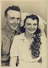 Photo: Gordon and Gerry's wedding photo, December 1946
