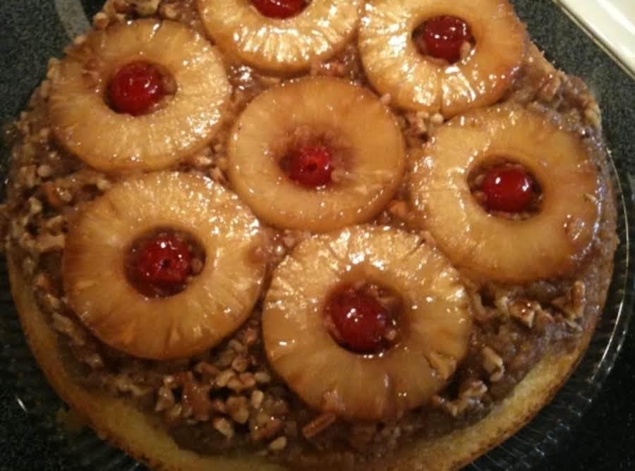 Microwave Pineapple Upside Down Cake Recipe