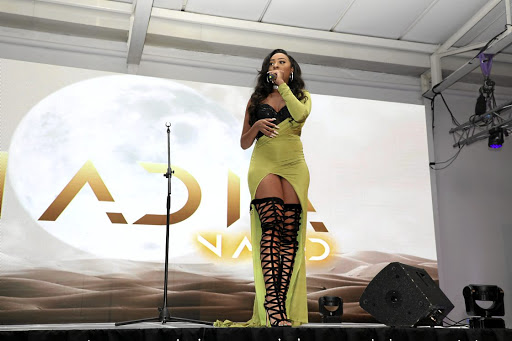 Nadia Nakai performs at her album launch.