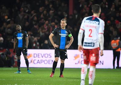 Le Club de Bruges tenu en échec du côté de Courtrai !