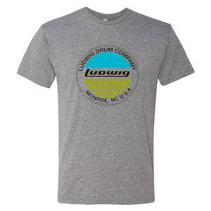 Ludwig Grå T-shirt - Blue & Olive - Medium