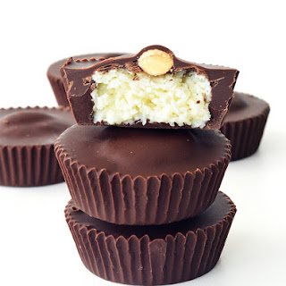 Almond Joy Coconut Chocolate Cups.