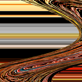 Lines and Curves by Edward Gold - Digital Art Abstract ( digital photography, abstract art, lines and curves, red yellow grey black orange colors, colorful, digital art )