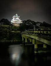 Photo: Osaka Castle at night
