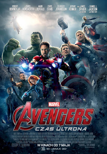 Polski plakat filmu 'Avengers: Czas Ultrona'