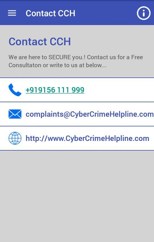 Cyber Crime Helpline- screenshot