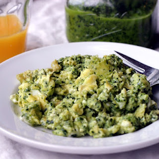 Green Eggs (with Kale pesto).