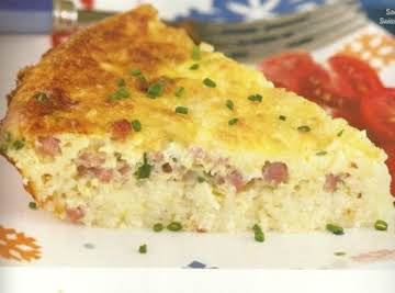 Savory Ham-And-Swiss Breakfast Pie