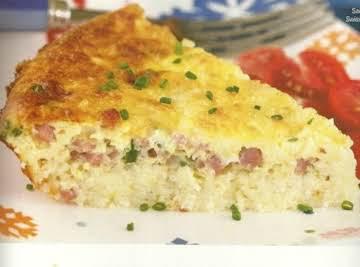 Savory Ham-And-Swiss Breakfast Pie