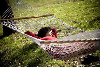 Photo: Yoga Farm, Grass Valley, CA - rest on the hammock