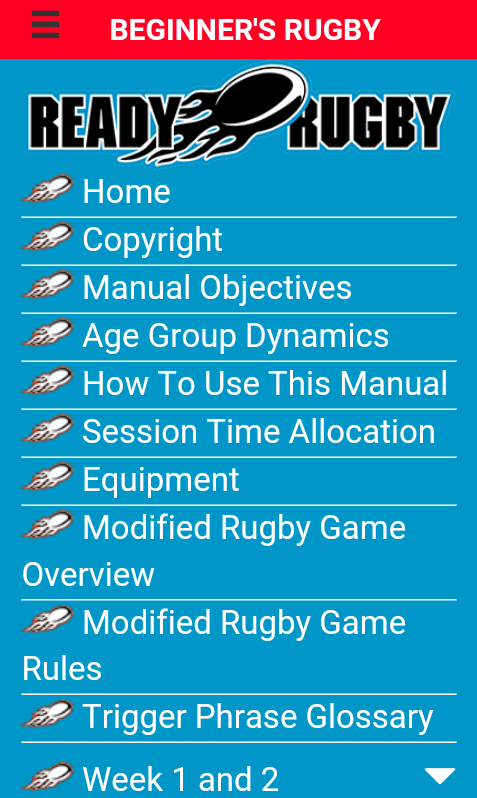 Beginners Rugby Manual- screenshot