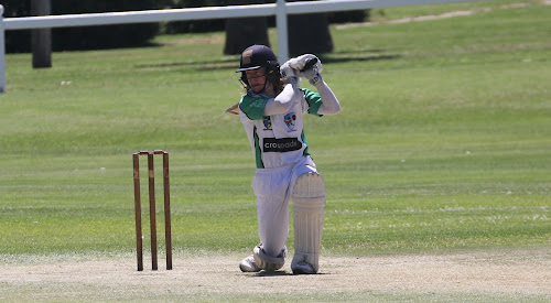 Coby Cornish in action for Crossroads Hotel in the 2016-17 NDCA first grade 45-over grand final.