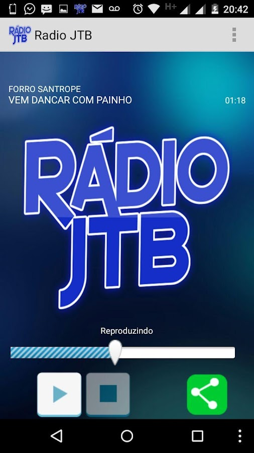 Rádio JTB- screenshot