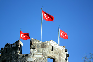 Turkish Flags in Bodrum