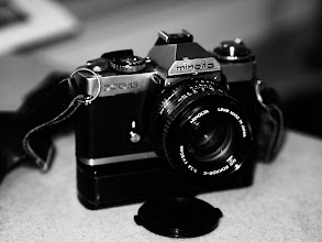Photo: Minolta XD11 35mm film camera, late 1970s
