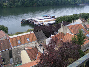 Photo: There are fine views of the town and river from the terrace of the Parc Gévelot behind the chateau.