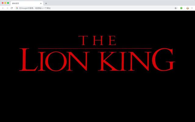 Lion King Popular Movies HD New Tabs Theme