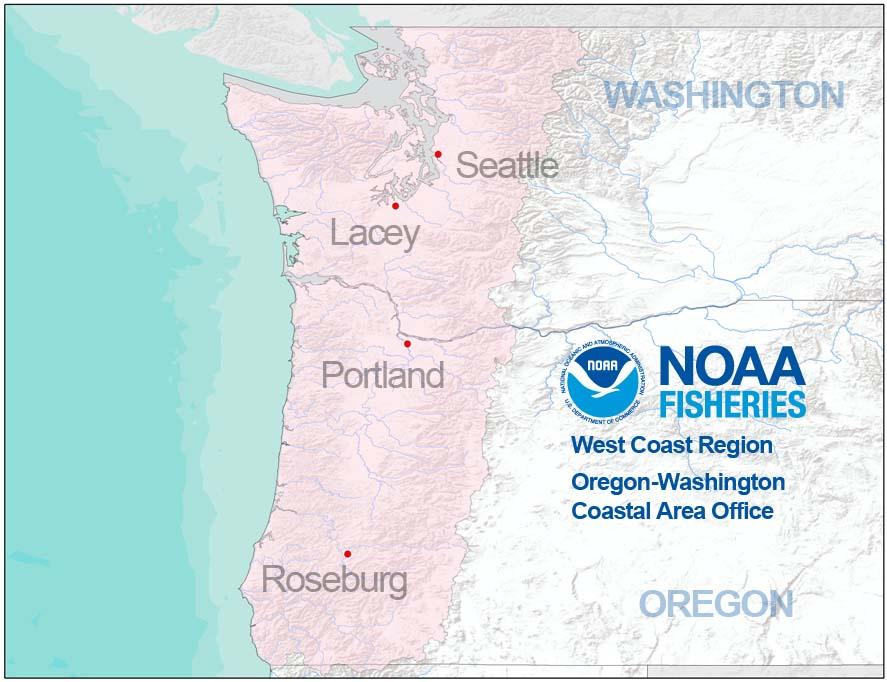 Oregon Washington map