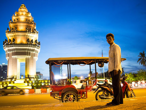 A tuk tuk driver in Phnom Penh. It's often the best way to get around Cambodia.